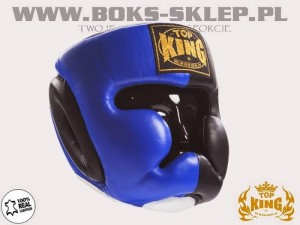 Kask sparingowy - TOP KING Extra Coverage Blue
